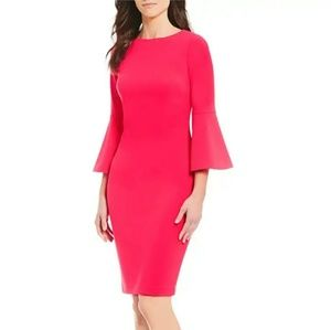 Calvin Klein | Bell Sleeve Sheath Dress Size 4